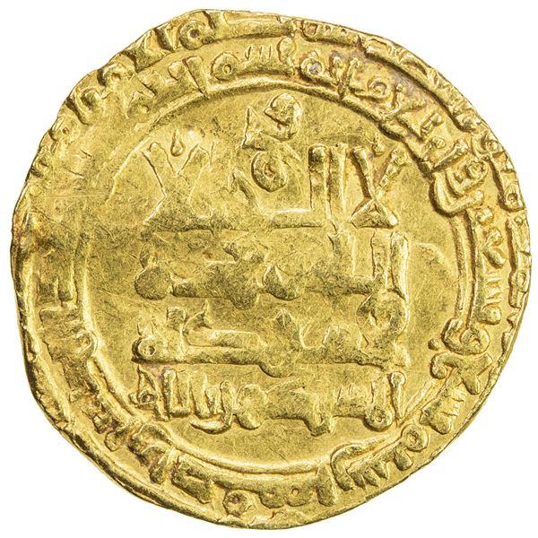 GREAT SELJUQ: Muhammad I, 1099-1118, fine AV dinar (3.72g), Isfahan, AH499. VF