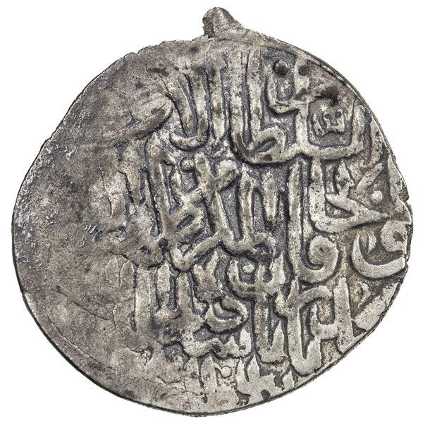 MUGHAL: Babur, 3rd reign, 1506-1530, AR shahrukhi (4.72g), Balkh, AH(924). VF