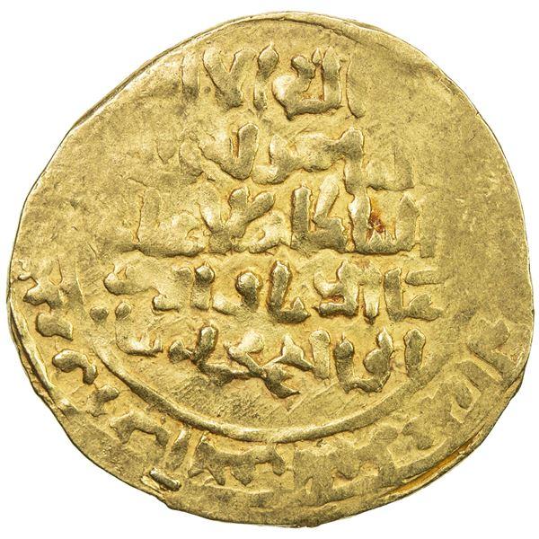 GHORID: Mu'izz al-Din Muhammad, 1171-1206, AV broad dinar (3.99g), MM, DM. VF