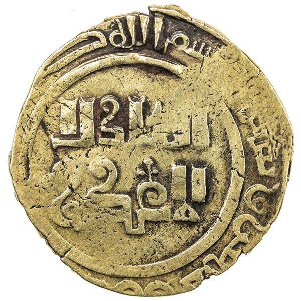 GREAT MONGOLS: Anonymous, ca. 1260s, AV dinar (3.75g), al-Imil, AH66x. VF