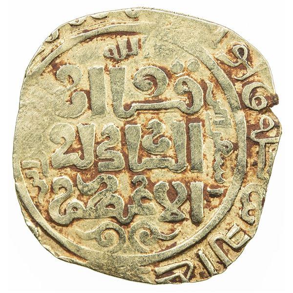 GREAT MONGOLS: Anonymous, ca. 1220s-1240s, AV dinar (4.30g), Isfarayin, DM. VF