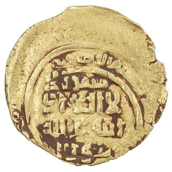GREAT MONGOLS: Anonymous, ca. 1230s-1250s, AV dinar (2.54g), Samarqand, AH6xx. VF