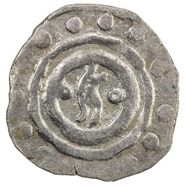 CHAGHATAYID KHANS: temp. Qaidu, 1270-1302, AR 1/2 dirham (0.72g), Taraz, ND. VF