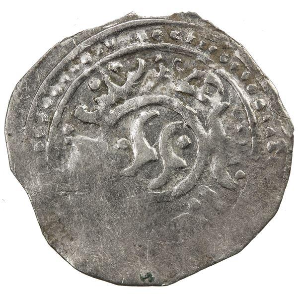 CHAGHATAYID KHANS: temp. Qaidu, 1270-1302, AR 1/2 dang (dirham) (0.49g), NM, ND. VF
