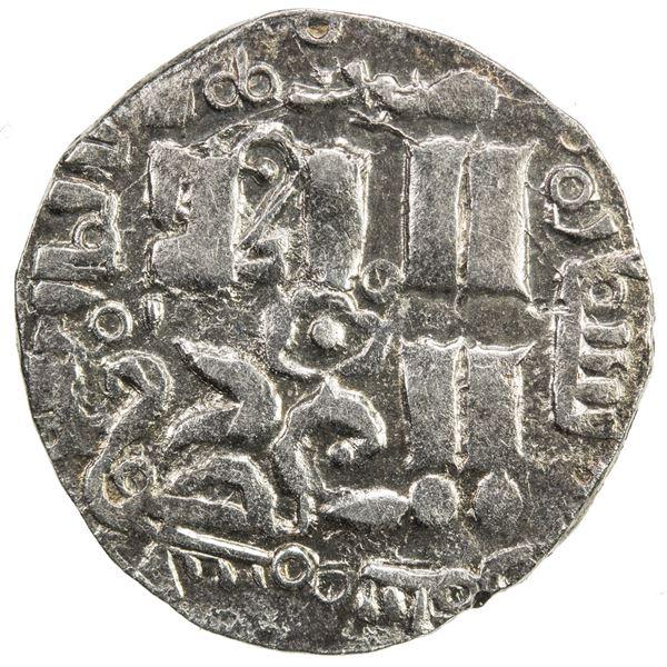 CHAGHATAYID KHANS: temp. Qaidu, 1270-1302, AR dirham (1.69g), Almaligh, AH679. EF