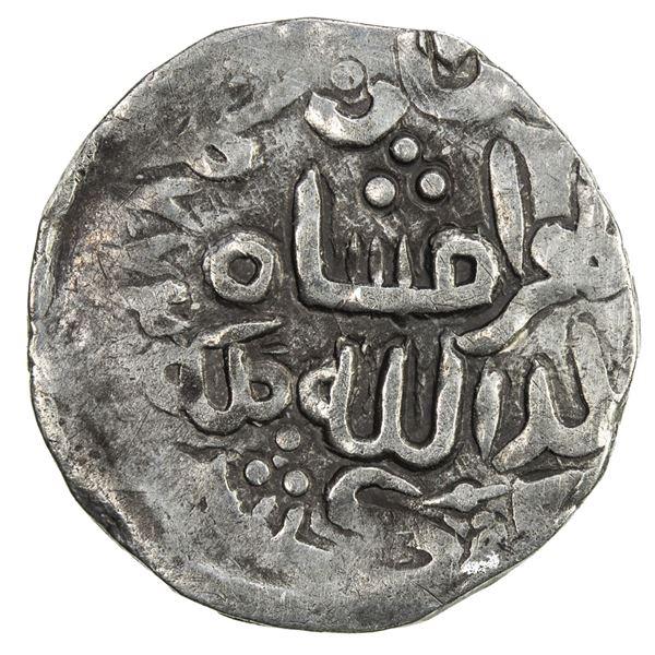 SHAHS OF BADAKHSHAN: Bahramshah, 1360s-1374, AR 1/6 dinar (1.27g), Kishm, AH772. VF