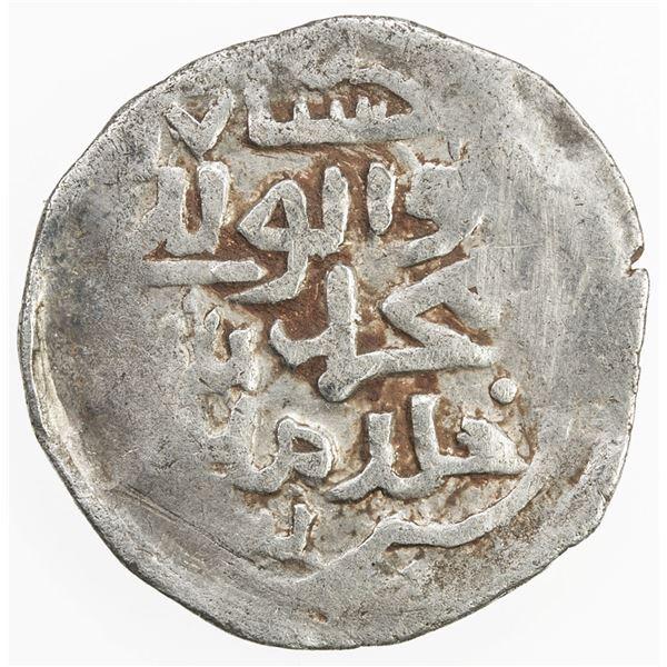 SHAHS OF BADAKHSHAN: Muhammad Shah, fl. 1380s, AR 1/6 dinar (1.07g), Badakhshan, ND/DM. VF