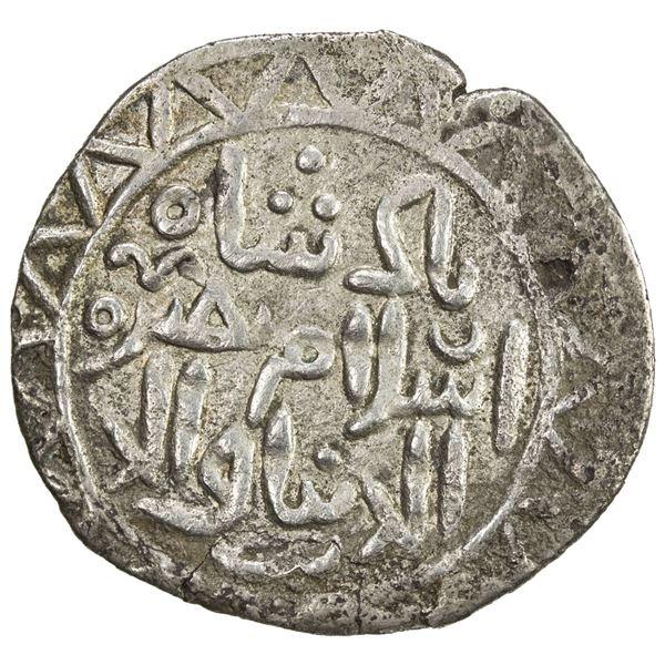 GOLDEN HORDE: Berke, 1257-1267, AR yarmaq (1.87g), Qrim (Crimea), ND (1264-67). VF