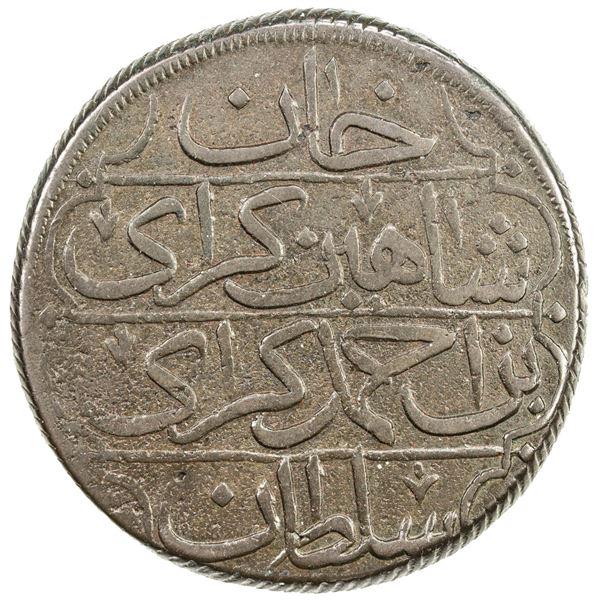 GIRAY KHANS: Shahin Giray, 1777-1783, AE kyrmis (62.74g), Baghcha-Saray, AH1191 year 5. EF