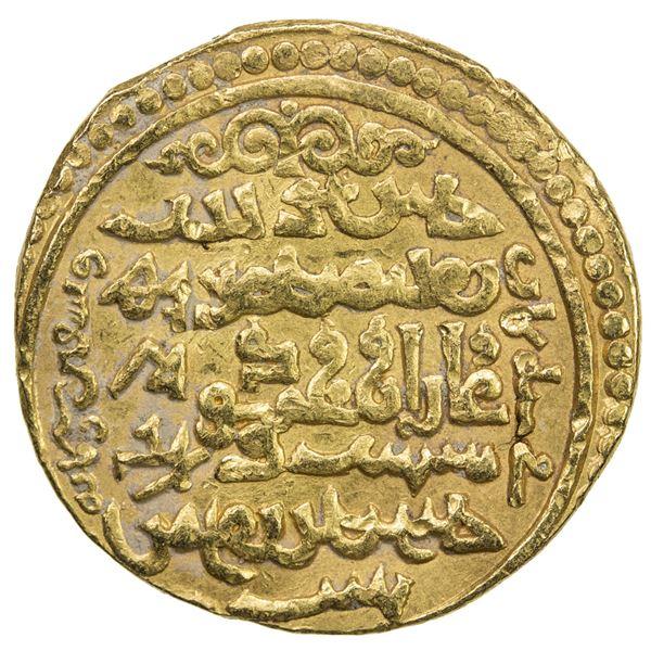 ILKHAN: Ghazan Mahmud, 1295-1304, AV dinar (8.59g), Bazar, AH698//698. VF
