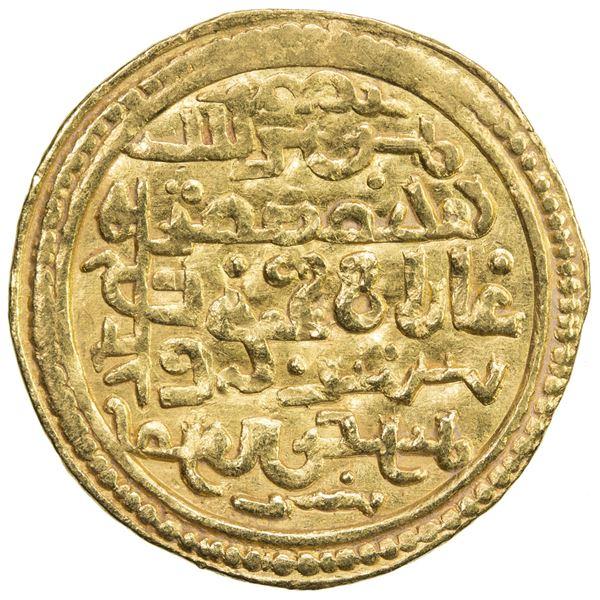 ILKHAN: Ghazan Mahmud, 1295-1304, AV dinar (4.30g), Mardin, AH707. VF