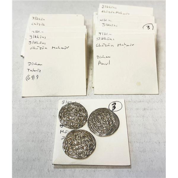 ILKHAN: Ghazan Mahmud, 1295-1304, LOT of 25 silver coins