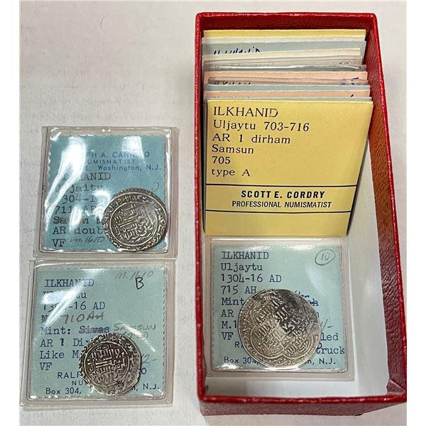 ILKHAN: Uljaytu, 1304-1316, LOT of 15 silver coins