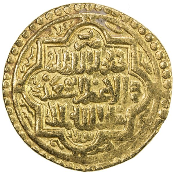 ILKHAN: Abu Sa'id, 1316-1335, AV dinar (8.24g), Baghdad, AH720. VF