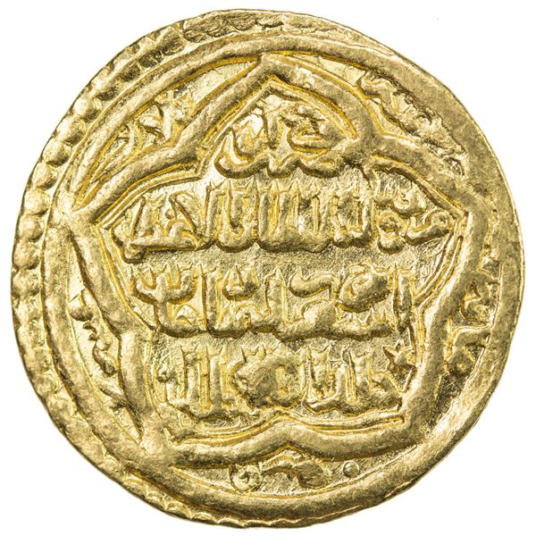 ILKHAN: Abu Sa'id, 1316-1335, AV dinar (4.30g), Baghdad, AH723. EF
