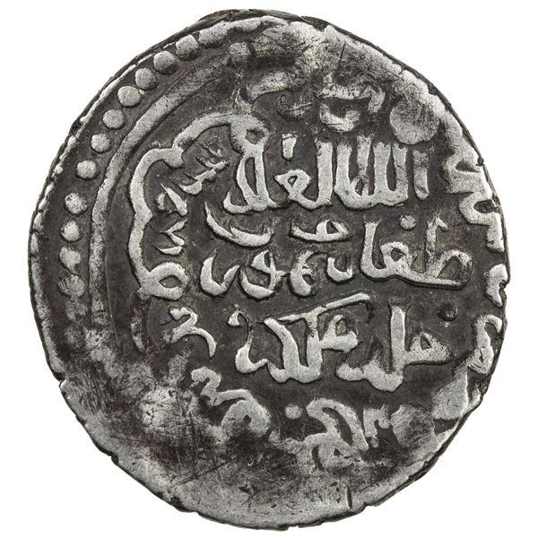 ILKHAN: Taghay Timur, 1336-1353, AR 2 dirhams (2.46g), Tabriz, AH739. VF