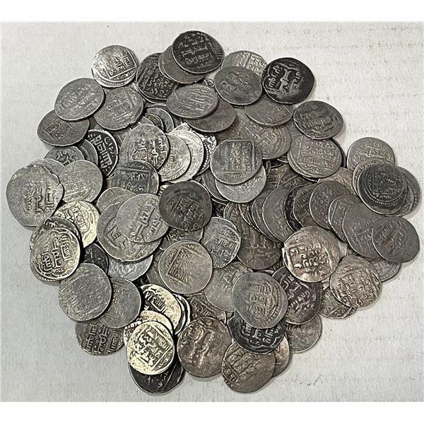 JALAYRIDS: LOT of 146 silver double dirhams
