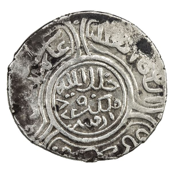 TIMURID: Timur, 1370-1405, AR 2 dinars (1.93g), Ardabil, AH789 (retrograde). VF