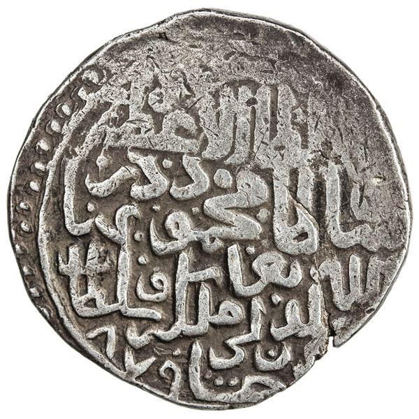 TIMURID: Sultan Mahmud, 2nd reign, 1469-1495, AR tanka (4.89g), Badakhshan, AH879. VF