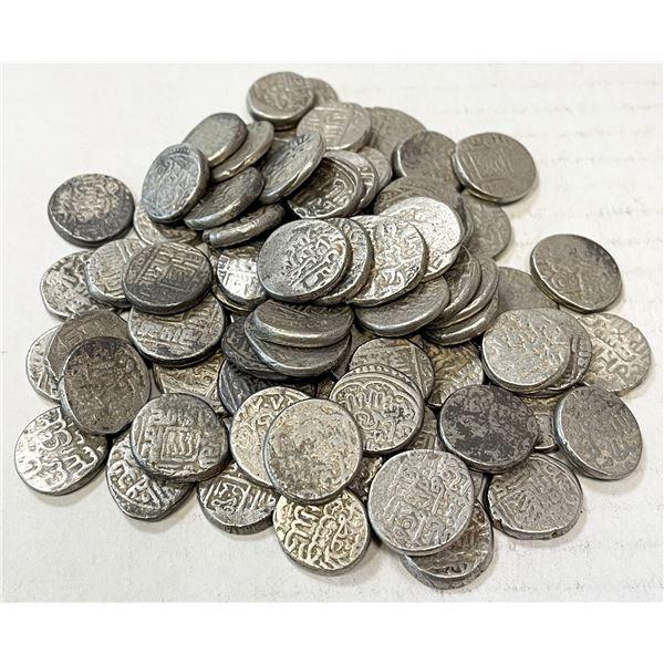 AQ QOYUNLU & related: LOT of 79 silver tankas