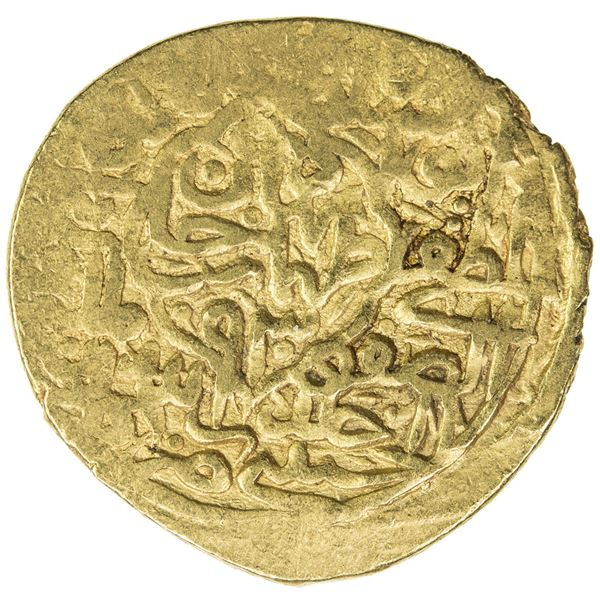 SAFAVID: Tahmasp I, 1524-1576, AV mithqal (4.66g), Kashan, AH930. F-VF