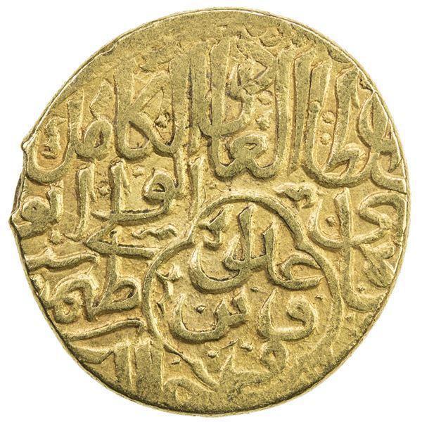 SAFAVID: Tahmasp I, 1524-1576, AV mithqal (4.61g), Qazwin, ND. VF