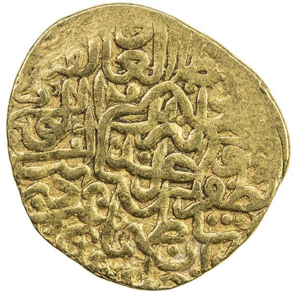SAFAVID: Tahmasp I, 1524-1576, AV mithqal (4.67g), Tabriz, AH930. VF