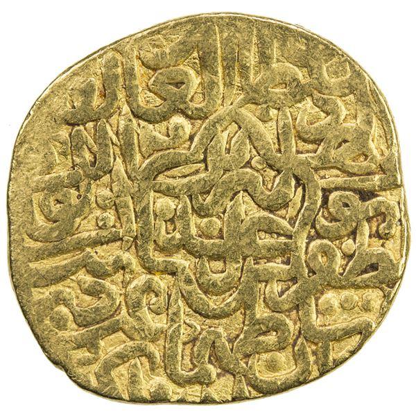 SAFAVID: Tahmasp I, 1524-1576, AV mithqal (4.62g), Tabriz, AH930. VF