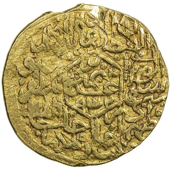 SAFAVID: Tahmasp I, 1524-1576, AV mithqal (4.65g), Tabriz, AH932. F-VF