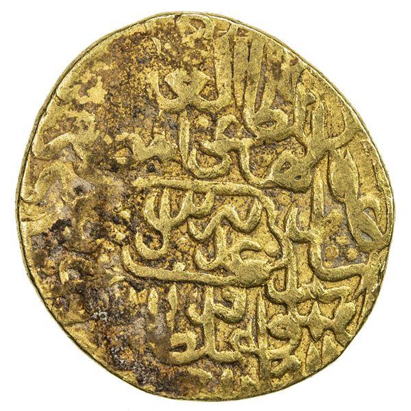 SAFAVID: Tahmasp I, 1524-1576, AV mithqal (4.68g), Tabriz, AH933. VF