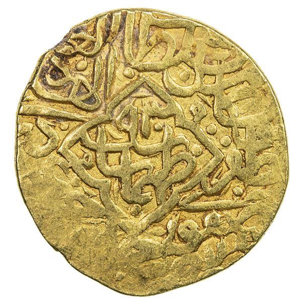 SAFAVID: Tahmasp I, 1524-1576, AV mithqal (4.64g), NM, AH930. VF