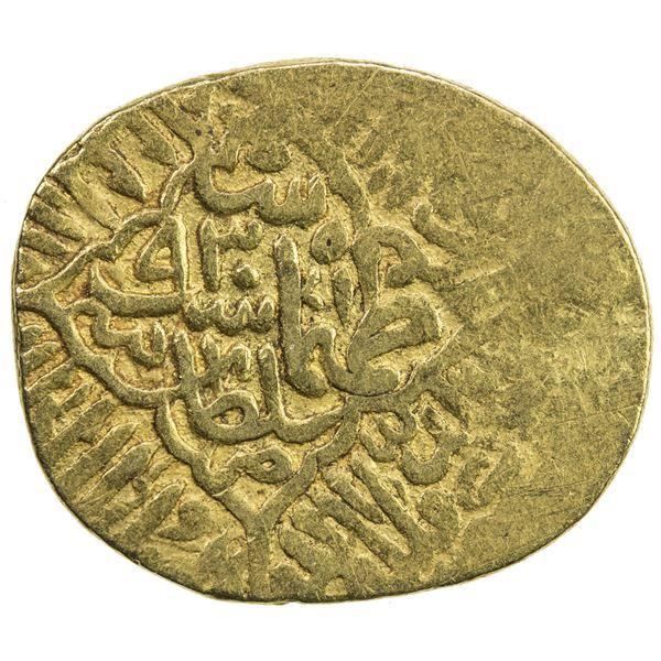 SAFAVID: Tahmasp I, 1524-1576, AV 1/2 mithqal (2.29g), Sultaniya, AH930. VF