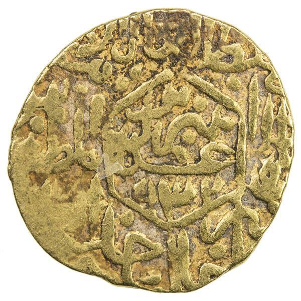 SAFAVID: Tahmasp I, 1524-1576, AV 1/2 mithqal (2.28g), Tabriz, AH932. F-VF