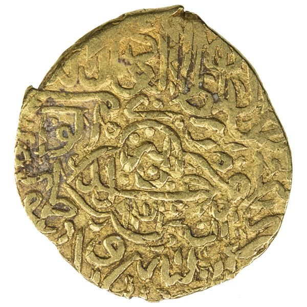 SAFAVID: Tahmasp I, 1524-1576, AV 1/2 mithqal (2.32g), Tabriz, AH934. F-VF
