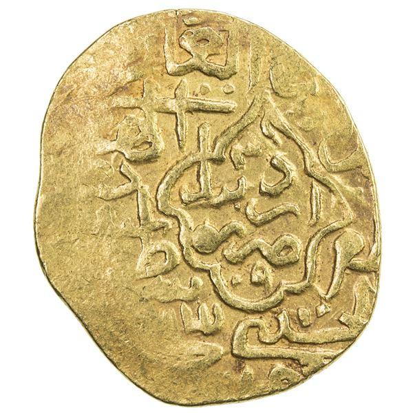 SAFAVID: Tahmasp I, 1524-1576, AV heavy ashrafi (3.85g), Ardabil, AH(9)39. VF