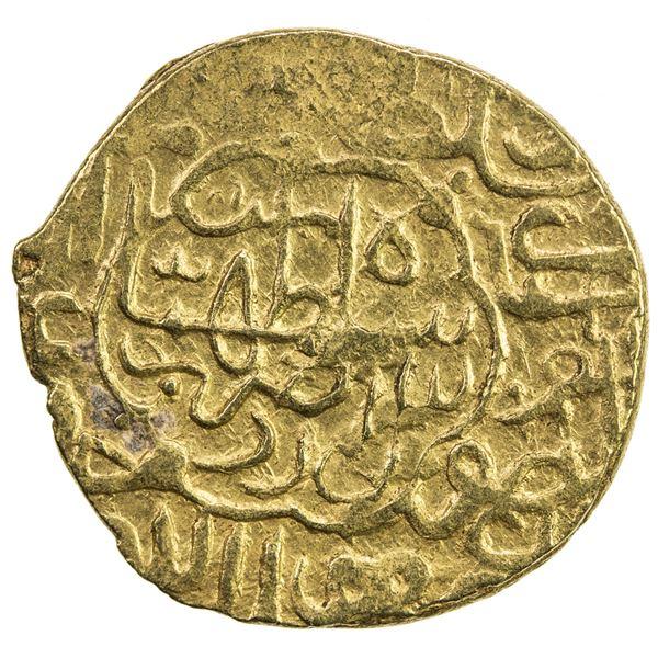 SAFAVID: Tahmasp I, 1524-1576, AV heavy ashrafi (3.98g), Ardabil, ND. VF