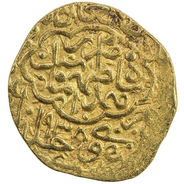 SAFAVID: Tahmasp I, 1524-1576, AV heavy ashrafi (3.86g), Hamadan, ND. VF-EF
