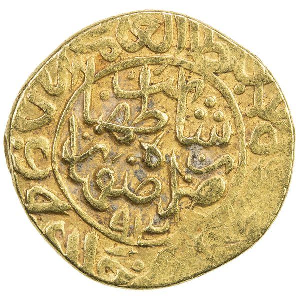 SAFAVID: Tahmasp I, 1524-1576, AV heavy ashrafi (3.90g), Isfahan, AH938. VF