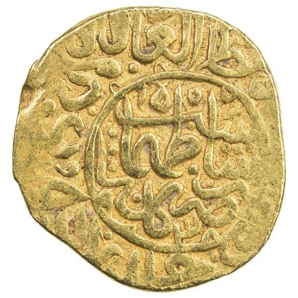 SAFAVID: Tahmasp I, 1524-1576, AV heavy ashrafi (3.89g), Kashan, AH938. VF