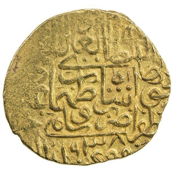 SAFAVID: Tahmasp I, 1524-1576, AV heavy ashrafi (3.86g), Saveh, AH938. EF