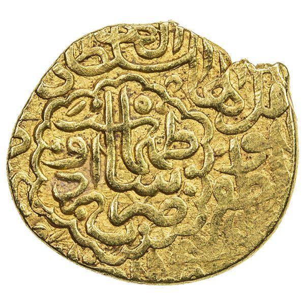 SAFAVID: Tahmasp I, 1524-1576, AV heavy ashrafi (3.88g), Urdu, ND. VF