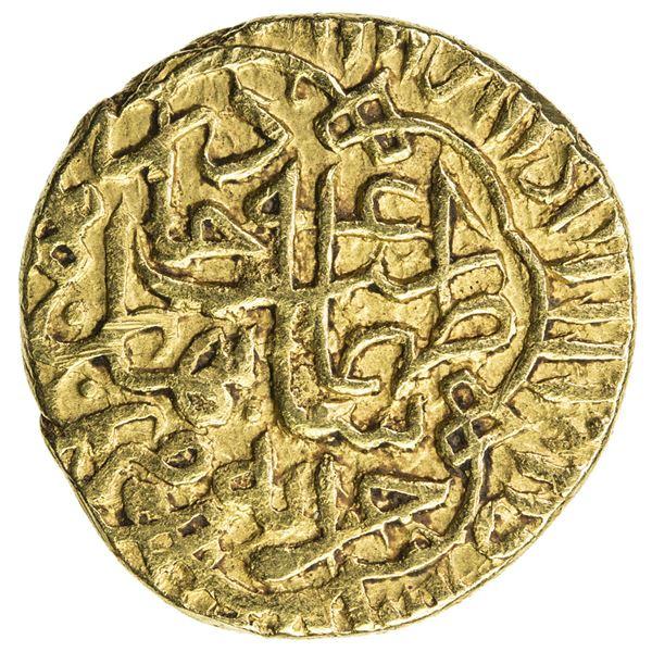 SAFAVID: Tahmasp I, 1524-1576, AV heavy 1/2 ashrafi (2.05g), Khazana (treasury mint), ND. VF