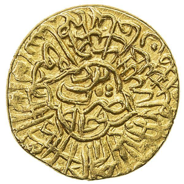 SAFAVID: Tahmasp I, 1524-1576, AV heavy 1/2 ashrafi (2.10g), Yazd, AH946. EF