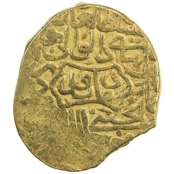 SAFAVID: Tahmasp I, 1524-1576, AV mithqal (4.56g), Damavand, ND. VF