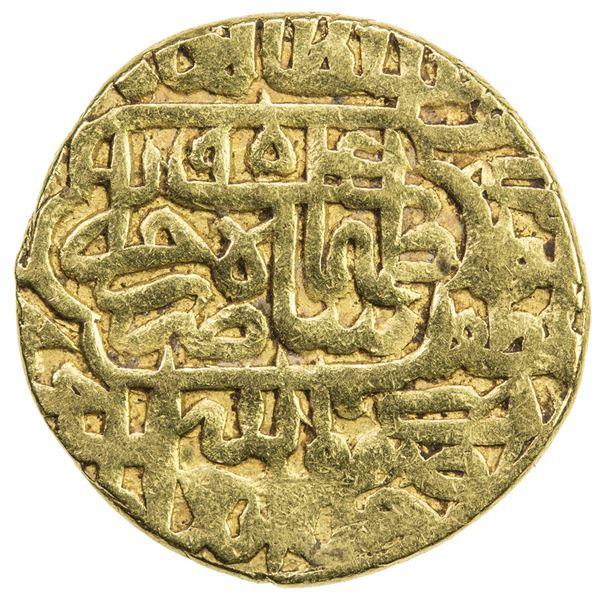 SAFAVID: Tahmasp I, 1524-1576, AV mithqal (4.62g), Khazana (treasury mint), AH954. VF