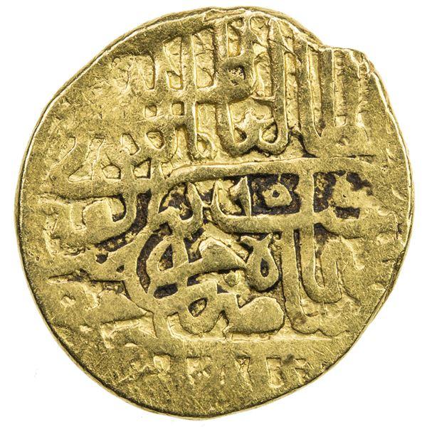 SAFAVID: Tahmasp I, 1524-1576, AV mithqal (4.61g), Khazana (treasury mint), AH955. F-VF