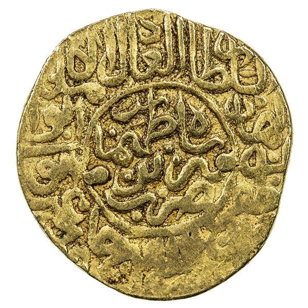 SAFAVID: Tahmasp I, 1524-1576, AV mithqal (4.68g), Tabriz, ND. VF