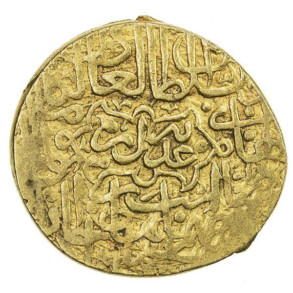 SAFAVID: Tahmasp I, 1524-1576, AV mithqal (4.63g), Tabriz, ND. VF