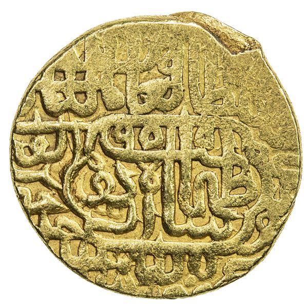 SAFAVID: Tahmasp I, 1524-1576, AV mithqal (4.64g), Urdu, AH955. VF
