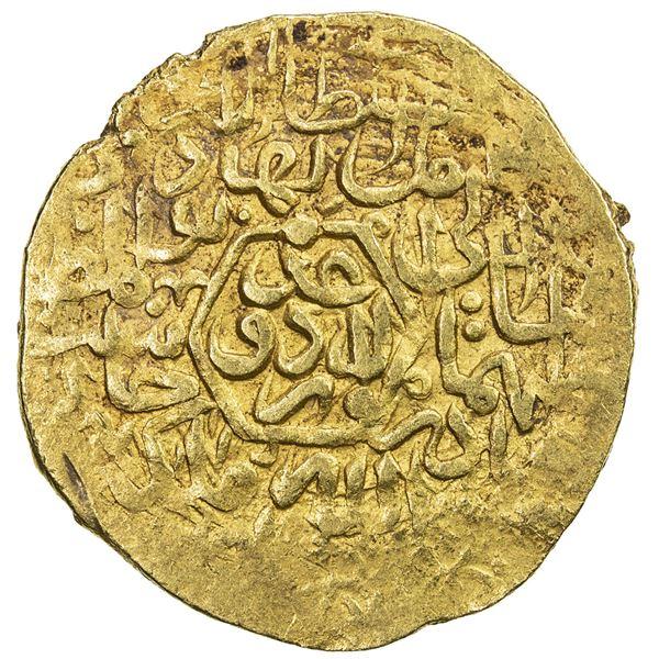 SAFAVID: Tahmasp I, 1524-1576, AV mithqal (4.65g), Urdu, ND. VF